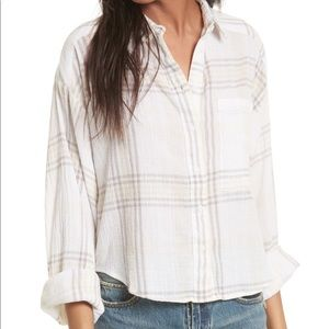 Free People cutie plaid button down